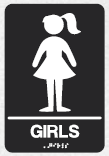 braille girls sign