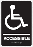 braille handicap accessible