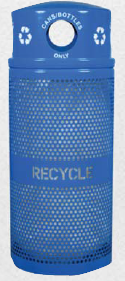 perforated trash receptacle