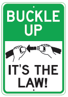 buckle up law sign