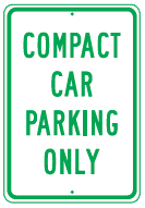 compace car only sign