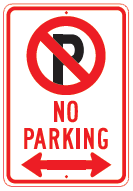 no parking arrows