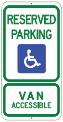 reserved park van accessible