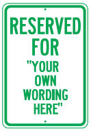 reserved your wording green
