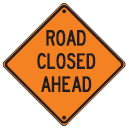rollup sign road closed