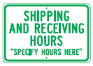 shipping hours time sign