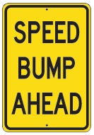 speed bump ahead yellow