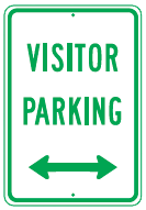 visitor parking arrows