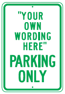 your wording parking green