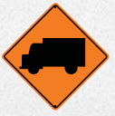truck crossing ahead