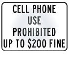 cell phone prohibited fine