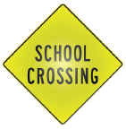 school crossing diamond sign