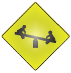 see saw sign