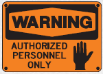 authorized personnel sign 5