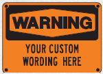 custom wording sign 4