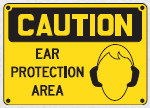ear protection area sign 2