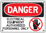 electrical equipment sign