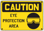 eye protection area sign 2