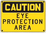 eye protection area sign