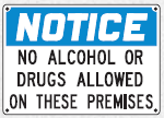 no alcohol or drugs sign