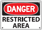 restricted area sign 2