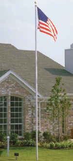 tapered aluminum flagpole