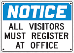 visitors must register sign