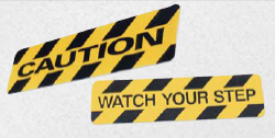 caution floor stickers