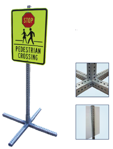 portable city sign stand