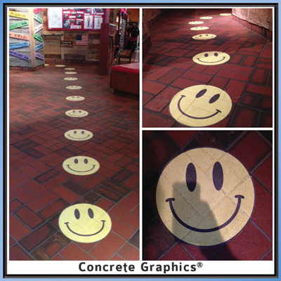 Buba Gump Shrimp Concrete Graphics on floor