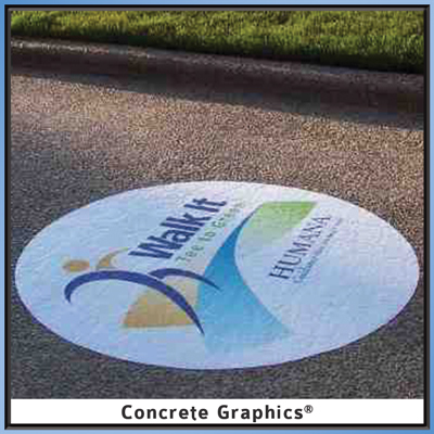 Byron Nelson Golf Championship Promotional Concfrete Graphic on sidewalk