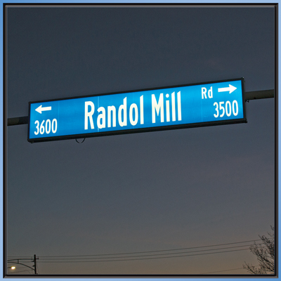 Single Sided Illuminated Street Sign - Randol Mill Rd manufactured by SA-SO