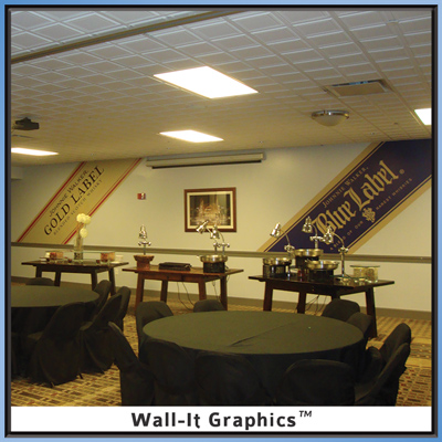 Johnny Walker Blue and Gold Label Wall-It Graphics
