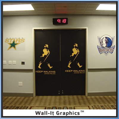 Johhny Walker Wall-It Graphic on door
