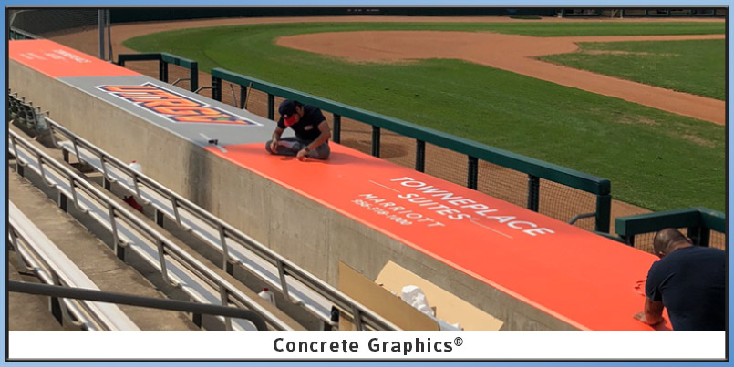 Concrete Graphics on UTRGV Dugout